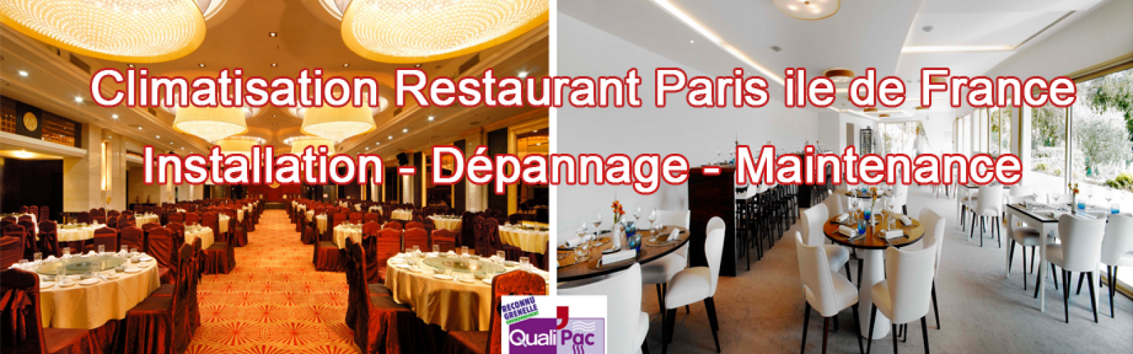 installation depannage maintenance climatisation restaurant